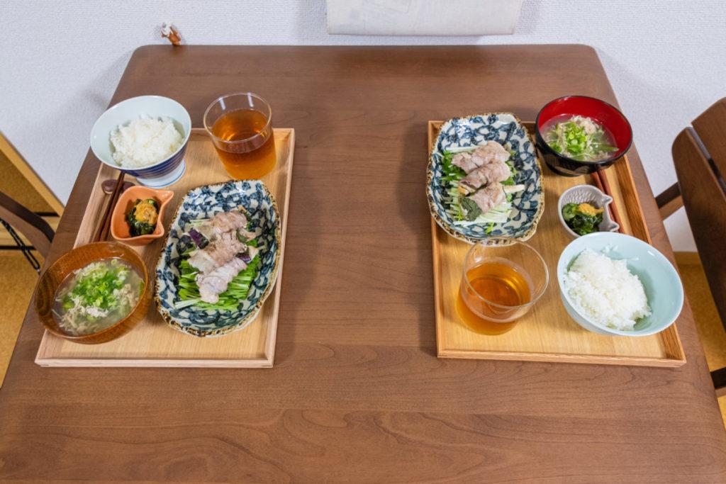 一般家庭の食卓