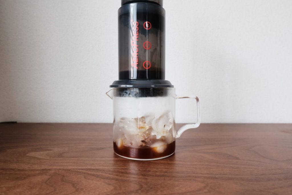 エアロプレスでアイスコーヒー