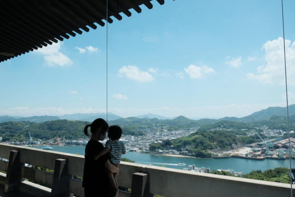 尾道市立美術館から見える尾道水道