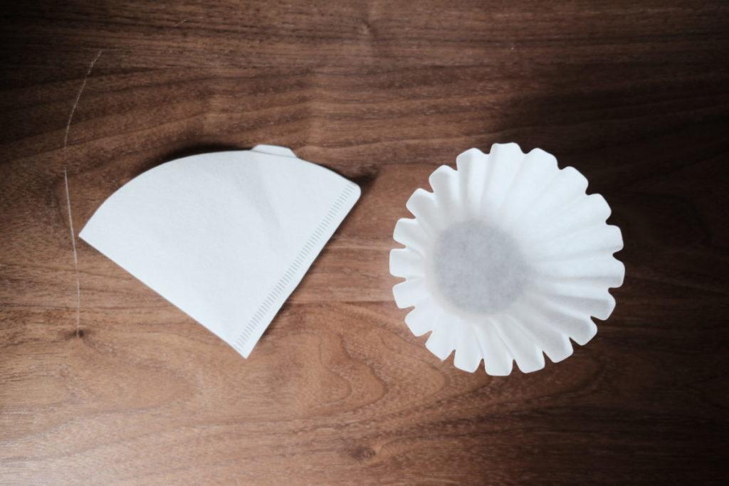 円錐型フィルターとウェーブフィルター